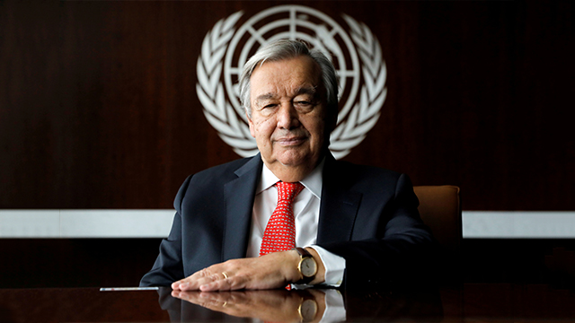 유엔 사무총장, 남북 동시가입 30주년 맞아 한반도 평화 기원