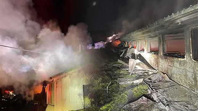 충북 진천 돼지농장서 불…돼지 240여 마리 폐사