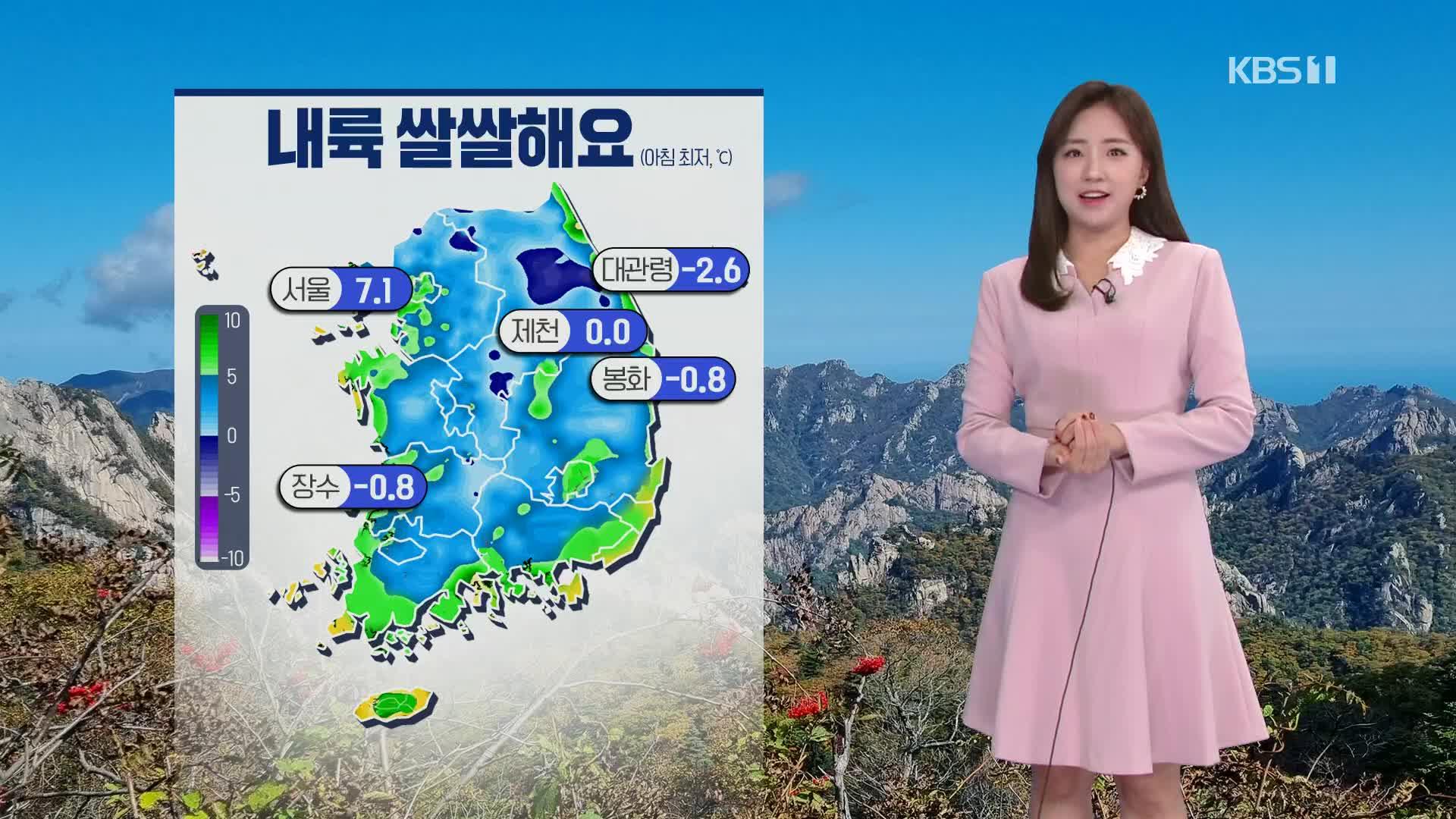 [출근길 날씨] 완연한 가을, 전국 맑고 일교차 커요!
