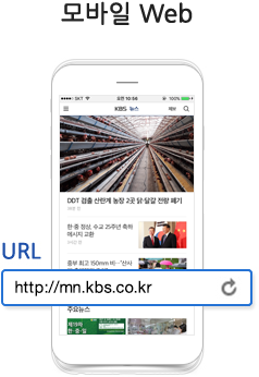모바일 Web - URL http://mn.kbs.co.kr